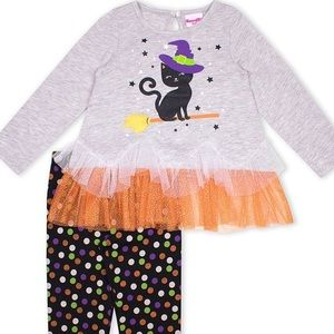 New Toddler Girl Witch Cat Leggings Set 🎃